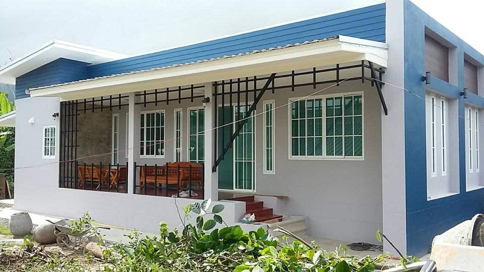 บ้านชั้นเดียวสไตล์โมเดิร์น 3 ห้องนอน 3 ห้องน้ำ ด้วยงบ 1,400,000 บาท