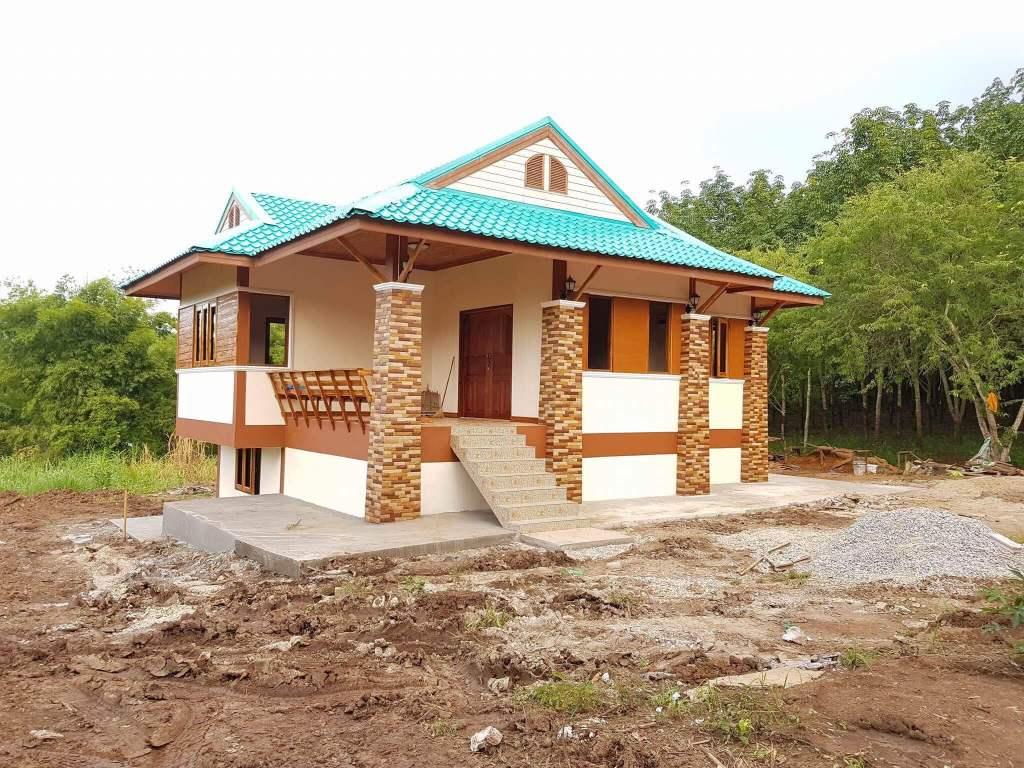 บ้านสไตล์ไทยประยุกต์ ผสมผสานระหว่างงานไม้และปูนได้อย่างลงตัว