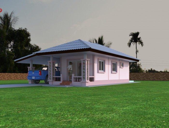 แบบบ้านรักษ์ธรรมชาติบนพื้นที่สีเขียว สวย สบายตา น่าอยู่ ด้วยงบ 700,000 บาท